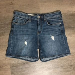 Pilcro and the Letterpress Mid-Rise Denim Shorts